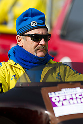 2013 Boston Marathon: media motorcycle driver