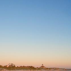 Lighthouse at sunset on Boca Grande Beach,  Florida USA.