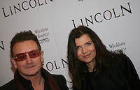 Bono, Ali Hewson at the Lincoln film premiere Savoy Cinema in Dublin, Ireland. Sunday 20th January 2013.