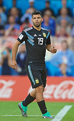 MOSCOW, RUSSIA - Saturday, June 16, 2018: Argentina's Sergio Aguero during the FIFA World Cup Russia 2018 Group D match between Argentina and Iceland at the Spartak Stadium. (Pic by David Rawcliffe/Propaganda)