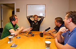 NEW JERSEY, USA - Wednesday, July 25, 2018: Liverpool's manager Jürgen Klopp speaks to the Anfield Wrap podcast at the team's Hilton Short Hills Hotel ahead of the International Champions Cup match between Manchester City FC and Liverpool FC at the Met Life Stadium. (Pic by David Rawcliffe/Propaganda)