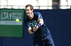 Great Britain's Andy Murray during day three of the Nature Valley International at Devonshire Park, Eastbourne.