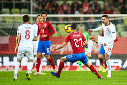 November 15, 2018 - Gdansk, Poland - Grzegorz Krychowiak and Mateusz Klich of Poland, vies David Pavelka of Czech Republic  during International Friendly match between Poland and Czech Republic on November 15, 2018 in Gdansk, Poland. (Credit Image: © Foto Olimpik/NurPhoto via ZUMA Press)