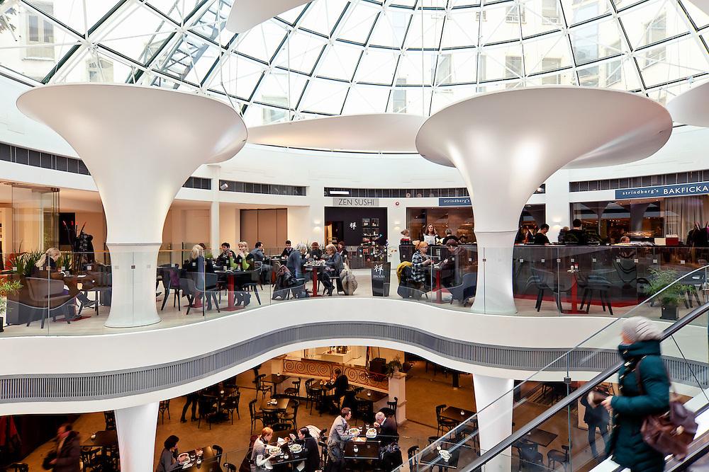 Zen sushi japanese restaurant in Kämppi shopping center in Helsinki. Interior design by inter-arch architectrs.