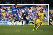 AFC Wimbledon defender George Francomb (7) controlling the ball during the EFL Sky Bet League 1 match between AFC Wimbledon and Bristol Rovers at the Cherry Red Records Stadium, Kingston, England on 8 April 2017. Photo by Matthew Redman.