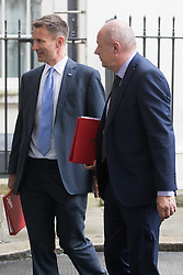 Downing Street, London, August 2nd 2016. Health Secretary Jeremy Hunt and Work and Pensions Secretary Damian Green leave Downing Street following the Economic and Industrial Strategy Committee meeting. The committee is comprised of eleven cabinet ministers and has been set up by Prime Minister Theresa May to ensure that Britain is in the best position to successfully leave the European Union.
