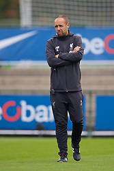 GENK, BELGIUM - Wednesday, October 23, 2019: Liverpool's manager Barry Lewtas before the UEFA Youth League Group E match between KRC Genk Under-19's and Liverpool FC Under-19's at the KRC Genk Arena Stadium B. (Pic by David Rawcliffe/Propaganda)