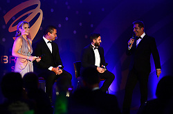 Lee Johnson and Pat Lam talk on the stage during the Bristol Sport annual Gala Dinner at Ashton Gate Stadium - Mandatory by-line: Dougie Allward/JMP - 14/12/2017 - Sport - Ashton Gate - Bristol, England - Bristol Sport Gala Dinner