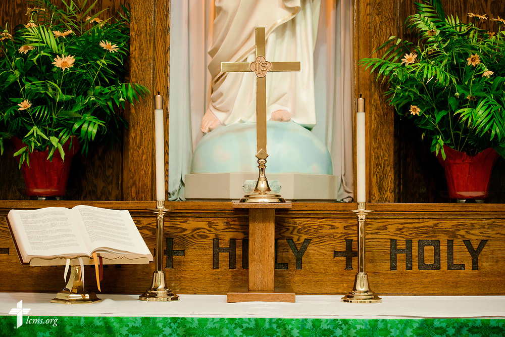 The altar at Zion Evangelical Lutheran Church, Lu Verne, Iowa, on Sunday, July 9, 2017. LCMS Communications/Erik M. Lunsford