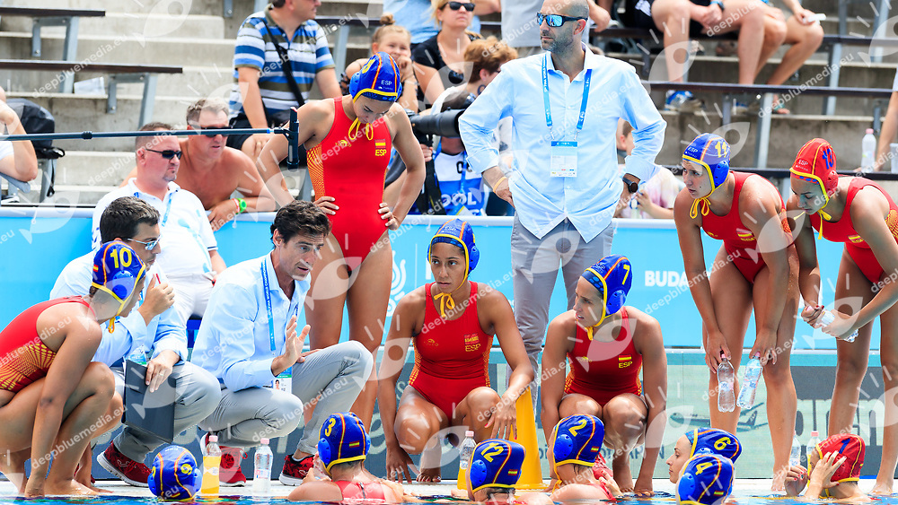 Team Spain<br /> New Zealand (White cap) vs Spain (Blue Cap) Water Polo - Preliminary round<br /> Day 03 16/07/2017 <br /> XVII FINA World Championships Aquatics<br /> Alfred Hajos Complex Margaret Island  <br /> Budapest Hungary July 15th - 30th 2017 <br /> Photo @Marcelterbals/Deepbluemedia/Insidefoto Photo @Marcelterbals/Deepbluemedia/Insidefoto