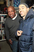 New York, NY- MARCH 10: (L-R) Video Music Box Founder Ralph McDaniels and Writer Bobbito Garcia at the Opening Reception of ' THE BOX THAT ROCKS: 30 Years of Video Music Box and the Rise of Hip Hop Music & Culture held at the Museum of Contemporary African Diasporan Arts (MoCADA) on March 10, 2012 in Brooklyn, New York City. (Photo by Terrence Jennings)