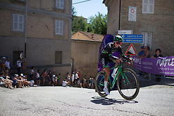 Katarzyna Niewiadoma (POL) of WM3 Pro Cycling Team rides near the top of the final climb of Stage 5 of the Giro Rosa - a 12.7 km individual time trial, starting and finishing in Sant'Elpido A Mare on July 4, 2017, in Fermo, Italy. (Photo by Balint Hamvas/Velofocus.com)