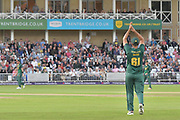 Ish Sodhi applauds his team mates during the NatWest T20 Blast Quarter Final match between Notts Outlaws and Somerset County Cricket Club at Trent Bridge, West Bridgford, United Kingdom on 24 August 2017. Photo by Simon Trafford.