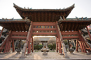 Wooden Memorial Archway of the Great Mosque in the Muslim area of Xian, China