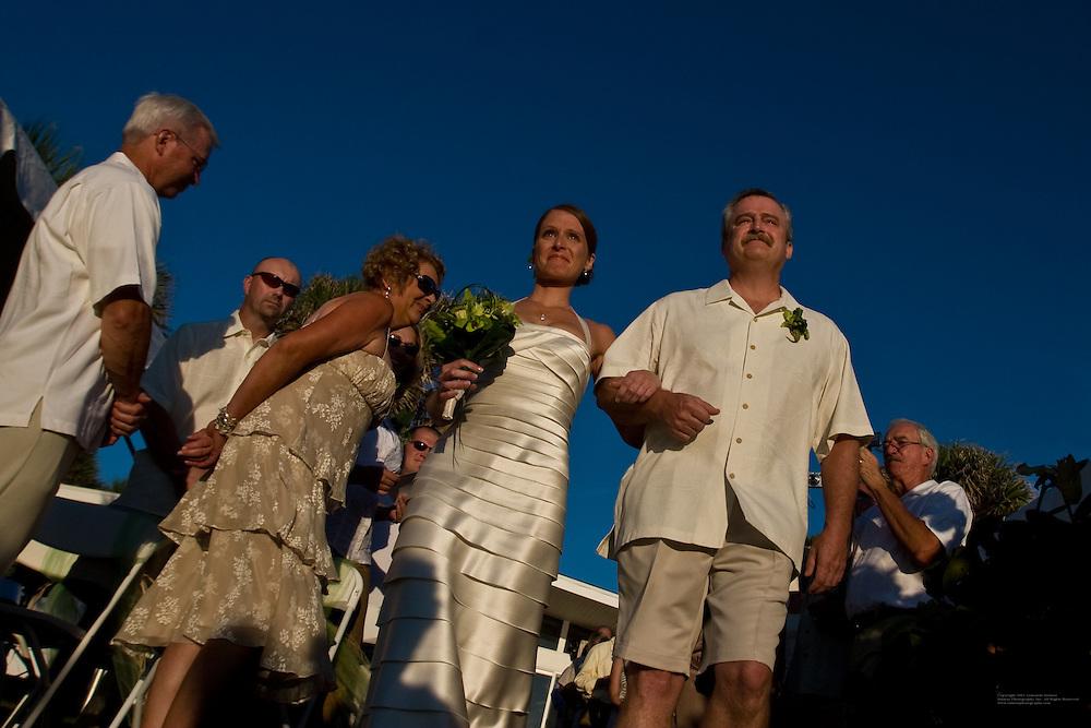 Emily Seibert and Chad Lutz, wedding, October 18, 2008, Englewood, Florida.