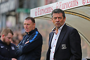 Southend United Manager Phil Brown during the EFL Sky Bet League 1 match between Bristol Rovers and Southend United at the Memorial Stadium, Bristol, England on 11 March 2017. Photo by Gary Learmonth.