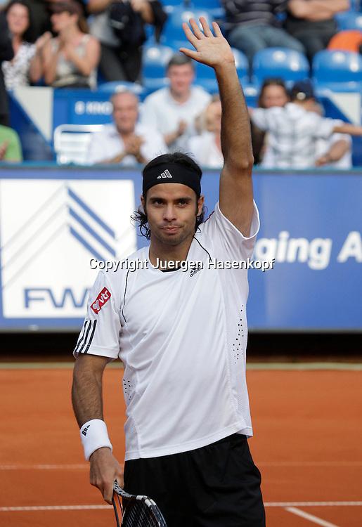 BMW Open 2008, Muenchen, Sport, Tennis,  International Series ATP  Tournament, Turnier Sieger Fernando Gonzales (CHI) jubelt, Jubel, Emotion...Foto: Juergen Hasenkopf
