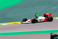 November 17, 2019, Sao Paulo, Sao Paulo, Brazil: Pilot BRUNO SENNA, drives the MP4/4 McLaren during the Formula One Grand Prix of Brazil 2019 at Interlagos circuit, in Sao Paulo, Brazil, on Sunday, November 17. (Credit Image: © Paulo Lopes/ZUMA Wire)
