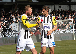 16.02.2019, TGW Arena, Pasching, AUT, OeFB Uniqa Cup, LASK vs SKN St. Pölten, Viertelfinale, im Bild v.l. Joao Klauss de Mello (LASK) feiert das 3 zu 0, James Holland (LASK) // during the quaterfinal match of the ÖFB Uniqa Cup between LASK and SKN St. Pölten at the TGW Arena in Pasching, Austria on 2019/02/16. EXPA Pictures © 2019, PhotoCredit: EXPA/ Reinhard Eisenbauer
