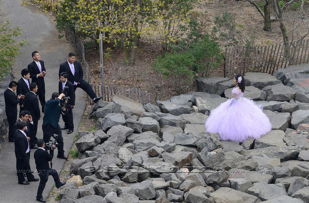 The Bride in Brooklyn Bridge Park.
