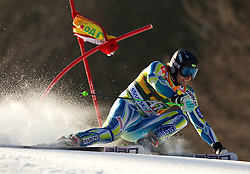 Ales Gorza of Slovenia competes during 1st Run of Men's Giant Slalom of FIS Ski World Cup Alpine Kranjska Gora, on March 5, 2011 in Vitranc/Podkoren, Kranjska Gora, Slovenia.  (Photo By Vid Ponikvar / Sportida.com)