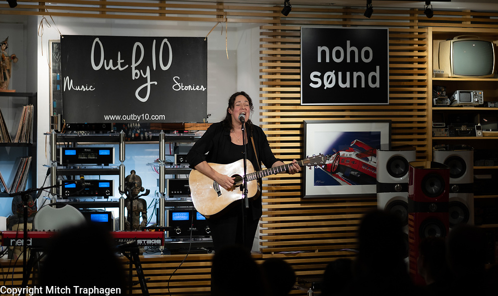 Out By 10 with host Susan Seliger, featuring Mike Amato, Mindy Raf, Michaela Murphy and Trina Hamlin at Noho Sound in New York City. May 11, 2018.