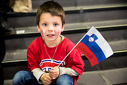 Slovenian fan during the 2017 IIHF Men's World Championship group B Ice hockey match between National Teams of Slovenia and Canada, on May 7, 2017 in Accorhotels Arena in Paris, France. Photo by Vid Ponikvar / Sportida