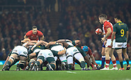 Gareth Davies of Wales waits to put in to the scrum<br /> <br /> Photographer Simon King/Replay Images<br /> <br /> Under Armour Series - Wales v South Africa - Saturday 24th November 2018 - Principality Stadium - Cardiff<br /> <br /> World Copyright © Replay Images . All rights reserved. info@replayimages.co.uk - http://replayimages.co.uk