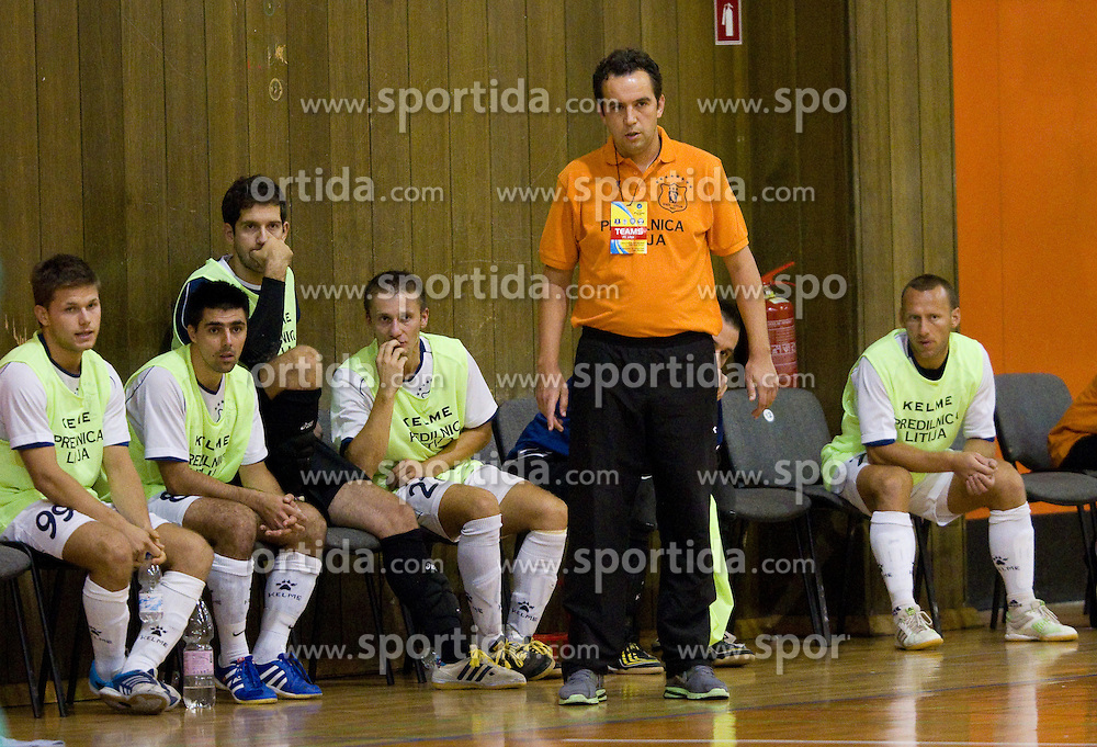 Tomislav Horvat, head coach of Litija during futsal match between FC Litija and Athina '90 in Main Round of Group I of UEFA Futsal Cup, on September 29, 2011, in Sports hall, Litija, Slovenia.  (Photo by Vid Ponikvar / Sportida)