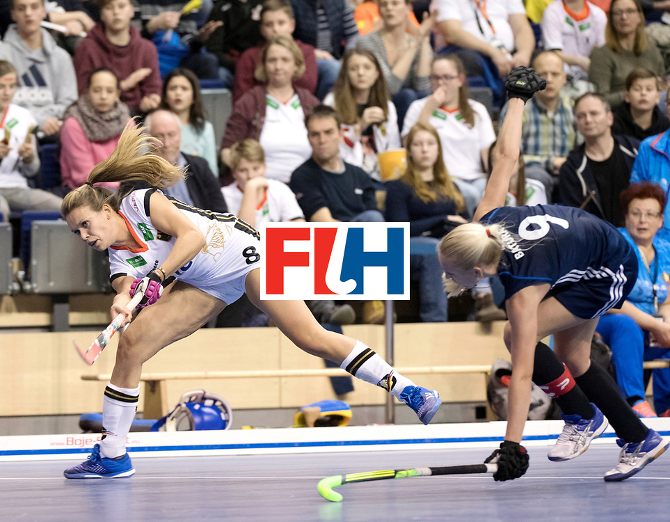 BERLIN - Indoor Hockey World Cup<br /> SF2 Belarus - Germany<br /> foto: Anne Schr&ouml;der <br /> WORLDSPORTPICS COPYRIGHT FRANK UIJLENBROEK