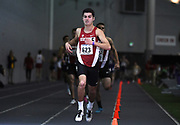 Feb 25, 2017; Seattle, WA, USA; Isaac Cortes of Stanford wins mile heat in 4:08.37 during the MPSF Indoor Championships at the Dempsey Indoor.