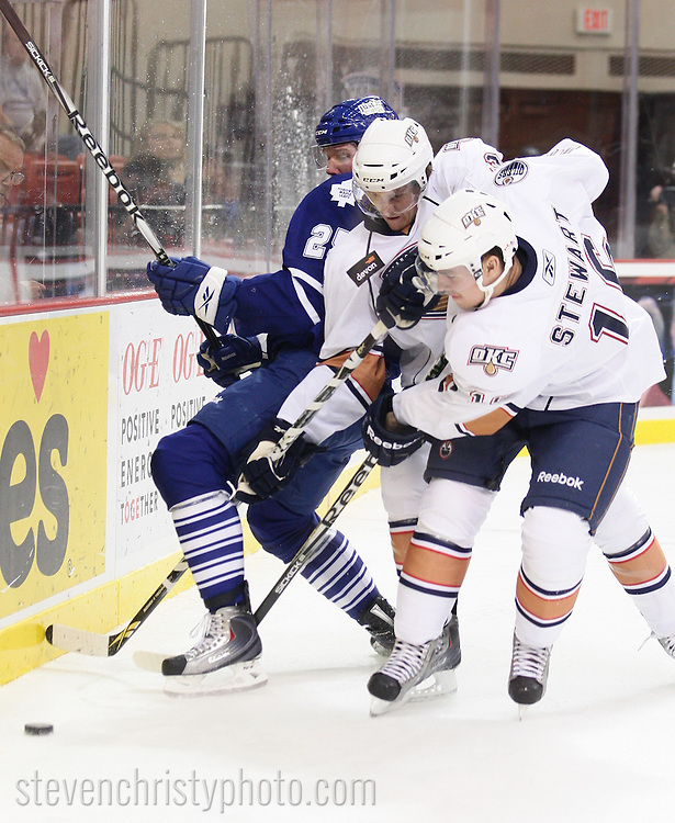 November 7, 2010: The Oklahoma City Barons play the Toronto Marlies in an American Hockey League game at the Cox Convention Center in Oklahoma City.