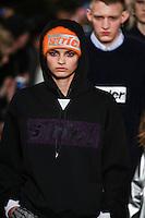 Isabella Emmack walks the runway wearing Alexander Wang Fall 2016 during New York Fashion Week on February 13, 2016