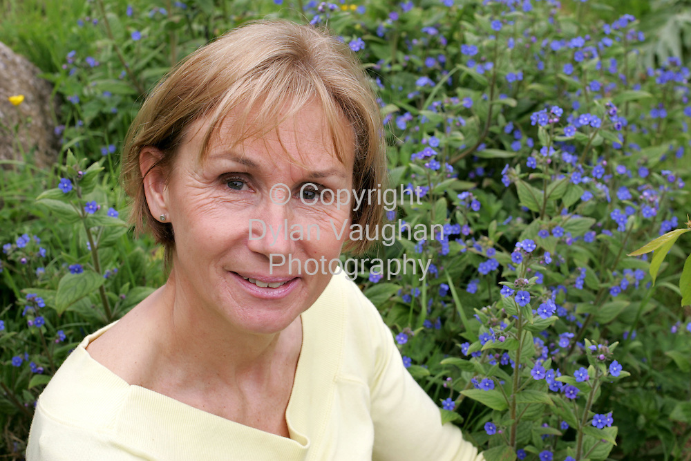 14/5/2004.Naomi Coad-Maenpaa pictured in her garden  at her home in Mahon Bridge.Picture Dylan Vaughan