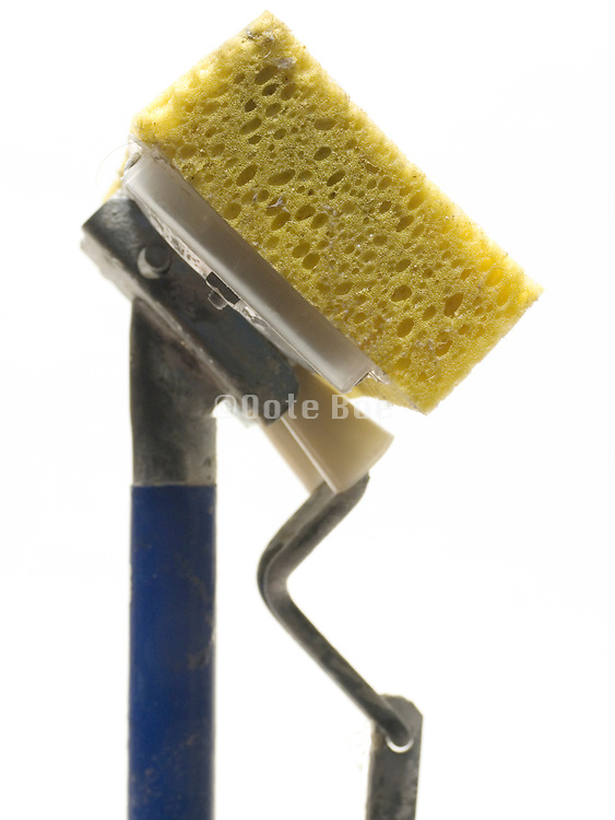 side view close up of sponge mop
