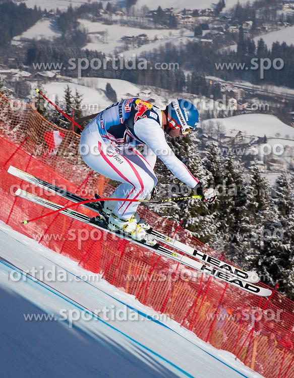 26.01.2013, Streif, Kitzbuehel, AUT, FIS Weltcup Ski Alpin, Abfahrt, Herren, im Bild Georg Streitberger (AUT) // Georg Streitberger of Austria in action during mens Downhill of the FIS Ski Alpine World Cup at the Streif course, Kitzbuehel, Austria on 2013/01/26. EXPA Pictures © 2013, PhotoCredit: EXPA/ Johann Groder