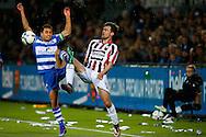 19-03-2016 VOETBAL:PEC ZWOLLE-WILLEM II:ZWOLLE<br /> Ouasim Bouy van PEC Zwolle in duel met  Erik Falkenburg van Willem II <br /> <br /> Foto: Geert van Erven