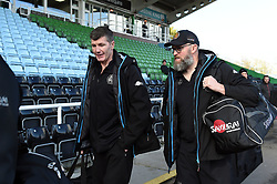 Exeter Chiefs Director of Rugby Rob Baxter speaks with Forwards Coach Rob Hunter - Mandatory byline: Patrick Khachfe/JMP - 07966 386802 - 29/02/2020 - RUGBY UNION - The Twickenham Stoop - London, England - Harlequins v Exeter Chiefs - Gallagher Premiership