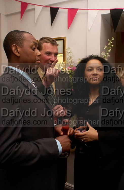 Len Hodge, Matthew Pinsent and Kana King. Party to celebrate Matthew Pinsent's Testimonial Year. theo Fennell. 5 May 2005.  ONE TIME USE ONLY - DO NOT ARCHIVE  © Copyright Photograph by Dafydd Jones 66 Stockwell Park Rd. London SW9 0DA Tel 020 7733 0108 www.dafjones.com