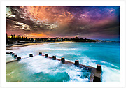 Incredible sky over Coogee Beach just after sunset [Coogee, NSW, Australia]<br />