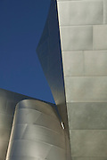 Beautiful light and simple shapes make for a great abstract view with a blue sky background at Walt Disney Concert Hall, 135 North Grand Ave, Los Angeles, CA 90012, Part of Music Center, Performing Arts Center of Los Angeles County, California...Subject photograph(s) are copyright Edward McCain. All rights are reserved except those specifically granted by Edward McCain in writing prior to publication...McCain Photography.211 S 4th Avenue.Tucson, AZ 85701-2103.(520) 623-1998.mobile: (520) 990-0999.fax: (520) 623-1190.http://www.mccainphoto.com.edward@mccainphoto.com.