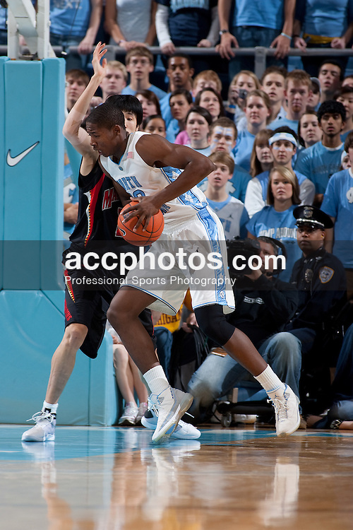 03 February 2009: North Carolina Tar Heels forward Ed Davis (32) during a 108-91 win over the Maryland Terrapins at the Dean Smith Center in Chapel Hill, NC.