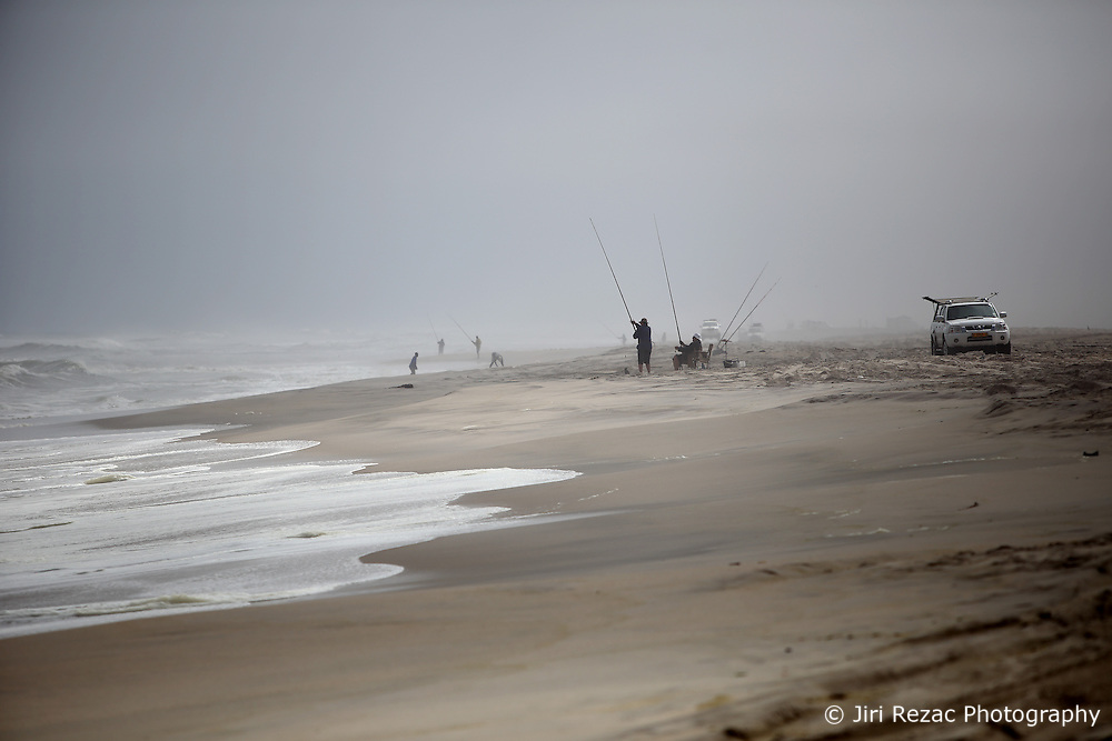 NAMIBIA HENTIES BAY 24APR14 - Sports fishermen near Henties Bay, Skeleton Coast, Namibia.<br /> <br /> TheSkeleton Coast National Park extends from just north of the city of Swakopmund to the Angolan border in northwest Namibia, taking in 500 kilometers of shoreline and 2 million hectares of dunes and gravel plains. <br /> <br /> jre/Photo by Jiri Rezac<br /> <br /> © Jiri Rezac 2014