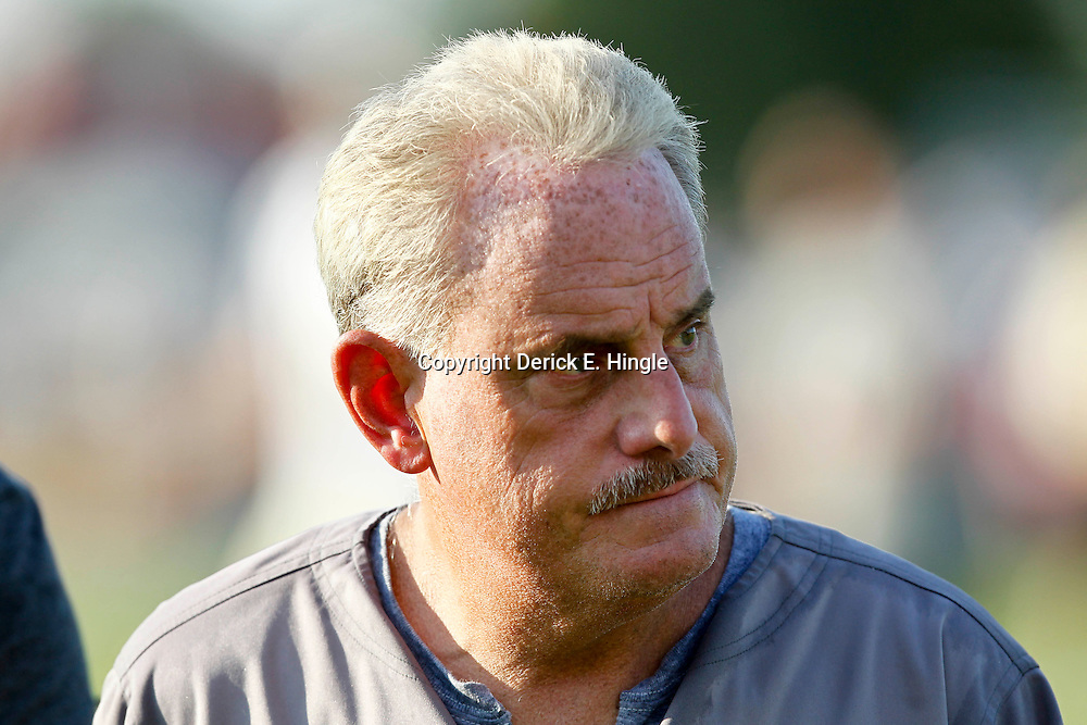 July 29, 2012; Metairie, LA, USA; New Orleans Saints assistant head coach and linebackers coach Joe Vitt during a training camp practice at the team's practice facility. Mandatory Credit: Derick E. Hingle-US PRESSWIRE