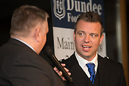 09/02/2017 - Gavin Rae being interviewe during Dundee FC Hall of fame dinner at the Invercarse Hotel, Dundee  Picture by David Young -