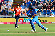 Virat Kohli (captain) of India sets off for a quick run during the International T20 match between England and India at the SWALEC Stadium, Cardiff, United Kingdom on 6 July 2018. Picture by Graham Hunt.