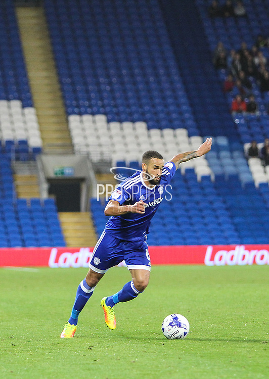 Jazz Richards of Cardiff City during the EFL Sky Bet Championship match between Cardiff City and Derby County at the Cardiff City Stadium, Cardiff, Wales on 27 September 2016. Photo by Andrew Lewis.