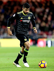 Diego Costa of Chelsea runs with the ball - Mandatory by-line: Robbie Stephenson/JMP - 20/11/2016 - FOOTBALL - Riverside Stadium - Middlesbrough, England - Middlesbrough v Chelsea - Premier League