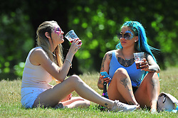 © Licensed to London News Pictures. 22/06/2017. <br /> GREENWICH, UK.<br /> Hot sunny weather day today in Greenwich Park,London as people look forward to a mini heatwave all next week.<br /> (Verbal permission given to photograph)<br /> Photo credit: Grant Falvey/LNP