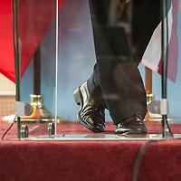 27/06/2013.  Dakar. Senegal. Les présidents Barack Obama et Macky Sall ont offert une conférence de presse au Palais Présidentiel de la République du Senegal. ©Sylvain Cherkaoui/Cosmos